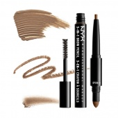 nyx 3-in-1 brow pencil - brunette - фото