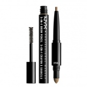 nyx 3-in-1 brow pencil - caramel - фото