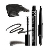 nyx 3-in-1 brow pencil - black - фото