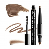nyx 3-in-1 brow pencil - soft brown - фото