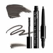 nyx 3-in-1 brow pencil - charcoal - фото