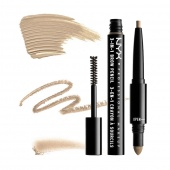 nyx 3-in-1 brow pencil - blonde - фото