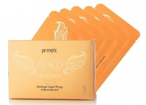 "petitfee&koelf гидрогелевая маска для шеи   petitfee ""hydrogel angel wings"" gold neck pack  - фото"