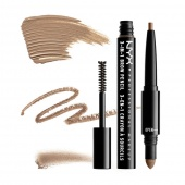 nyx 3-in-1 brow pencil - taupe - фото